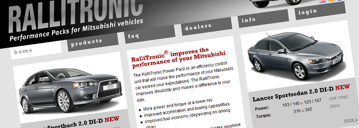 Rallitronic productwebsite